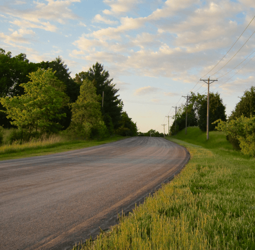 Picture of rural asphalt road