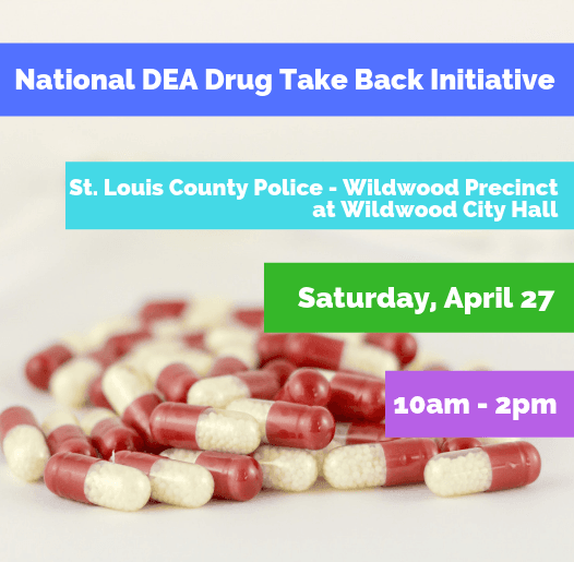 Drug Take Back Event on April 27 from 10a to 2p at City Hall