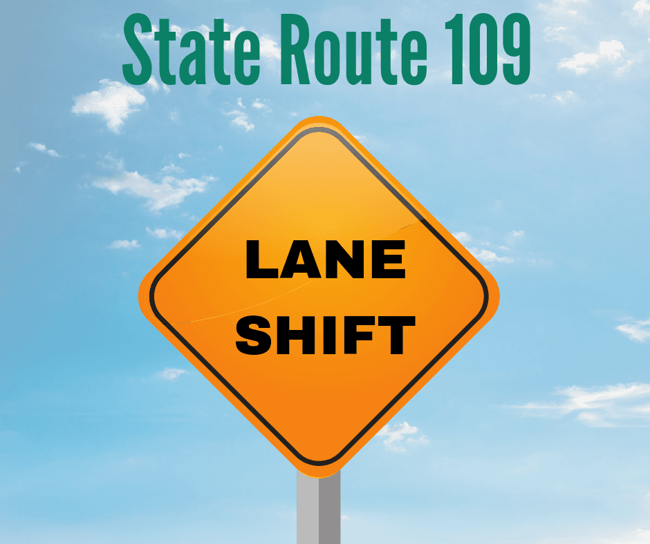 Lane Shift State Route 109_Generic, no date