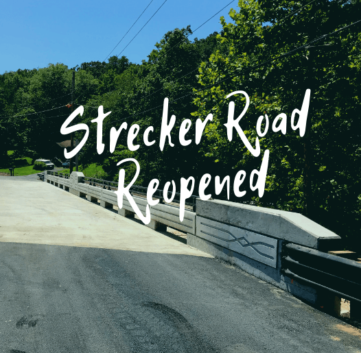 Strecker Road Reopened - spotlight