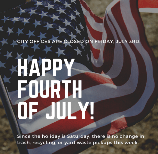 4th of July 2020 - holiday hours