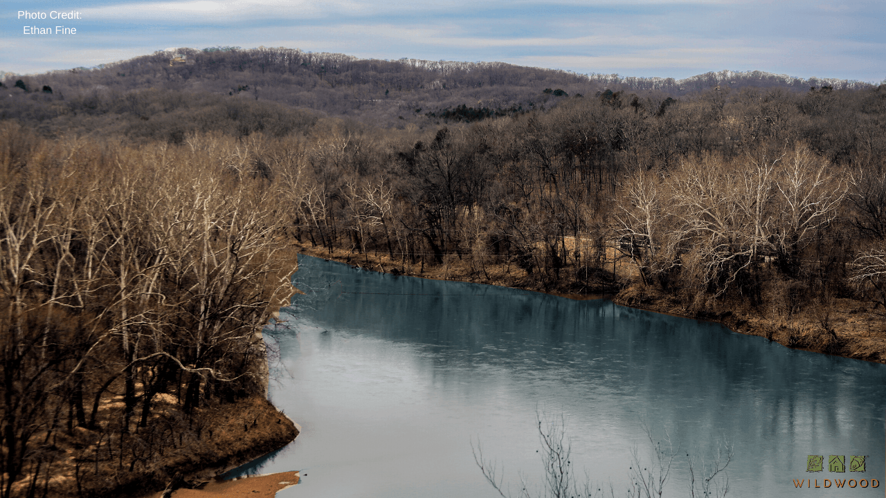 Zoom Background - Meramec River from Bluff View Park Opens in new window
