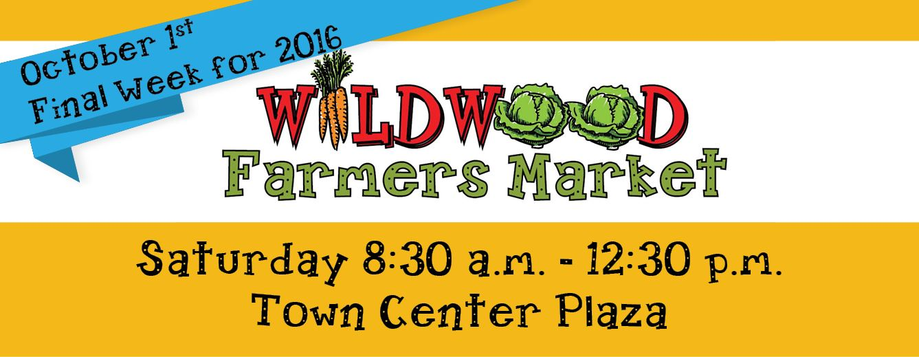 Graphic noting Final Week of Farmers Market will be Saturday, October 1st from 8:30 am to 12:30 pm