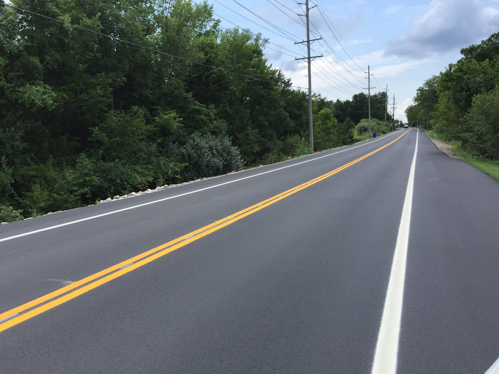Brand new resurfaced road